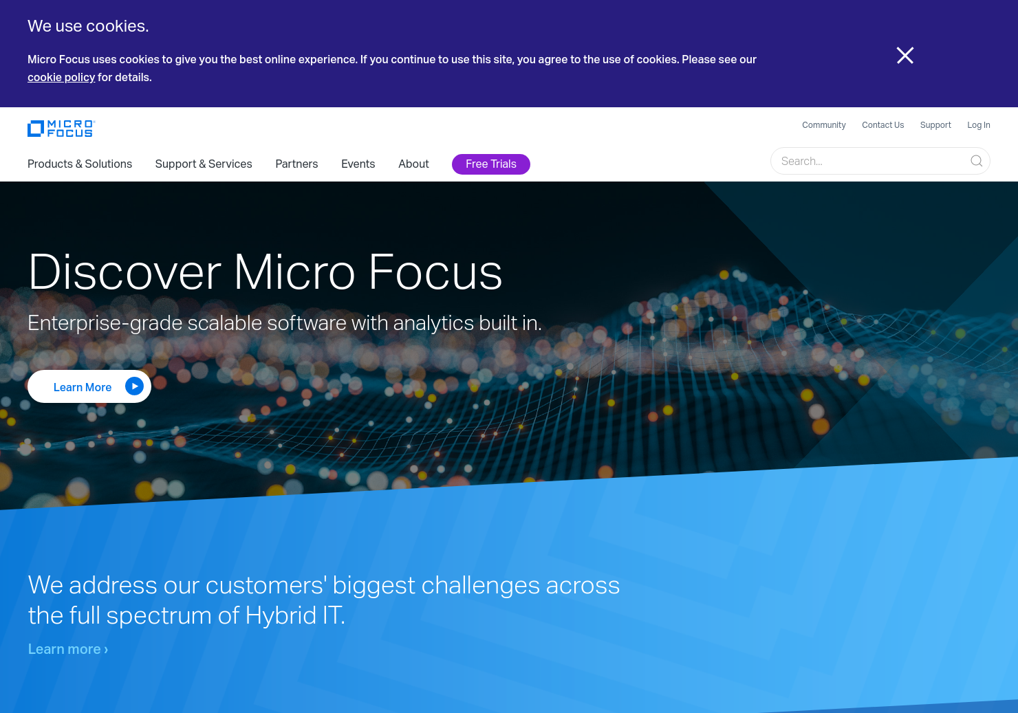 Micro Focus Home Page
