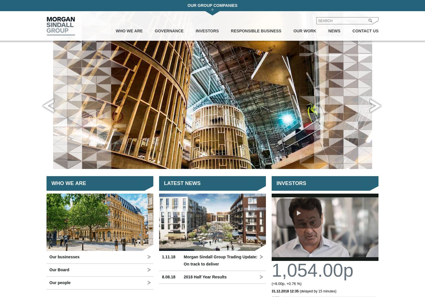 Morgan Sindall Group Home Page