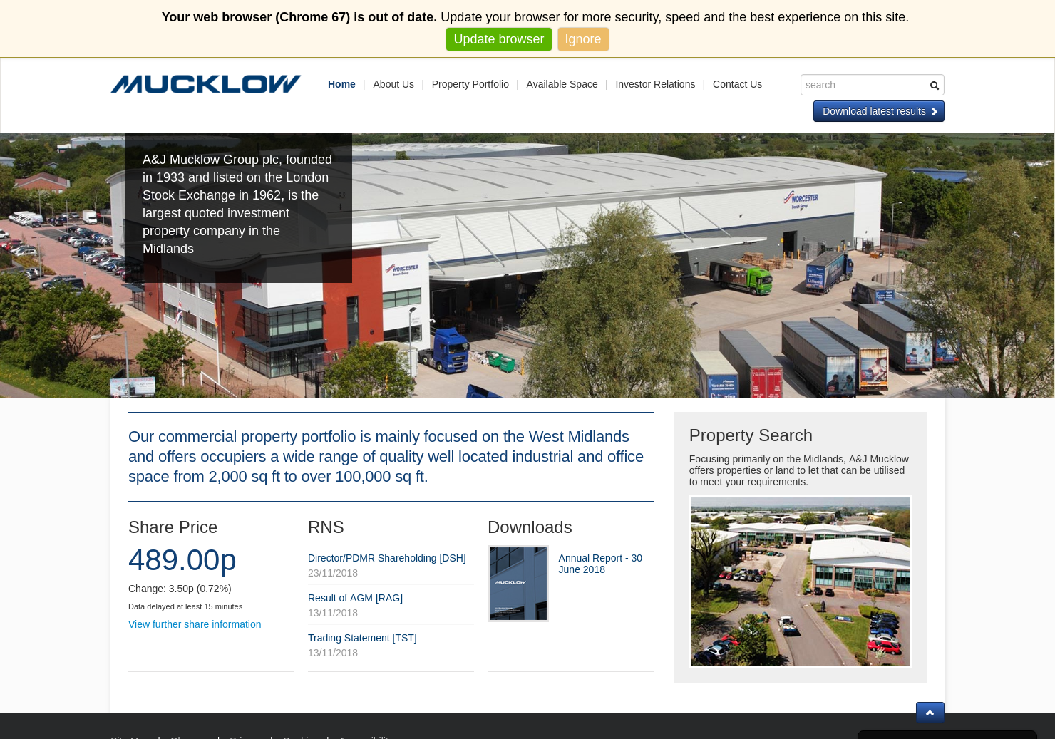 Mucklow (A & J) Home Page