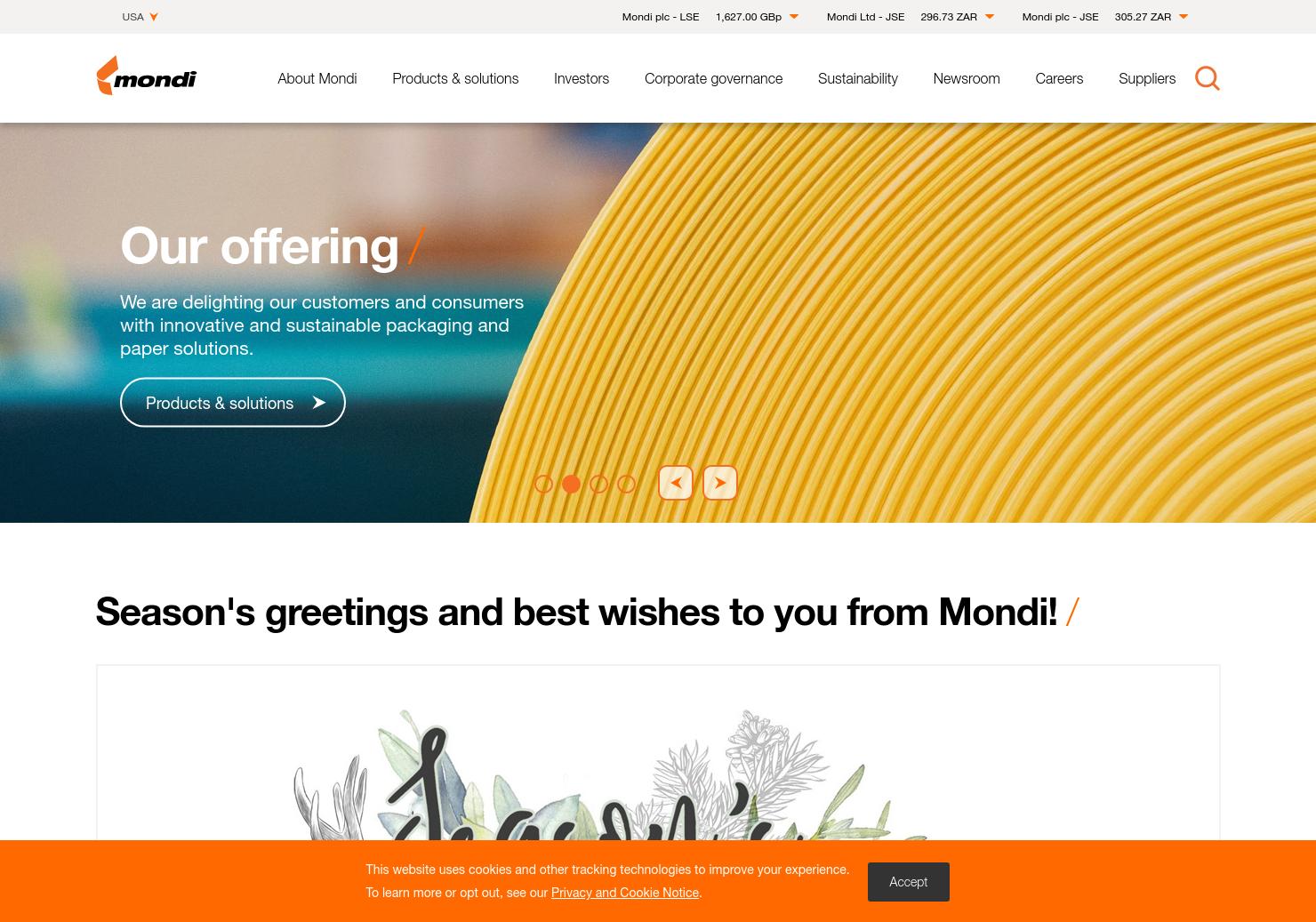 Mondi Home Page