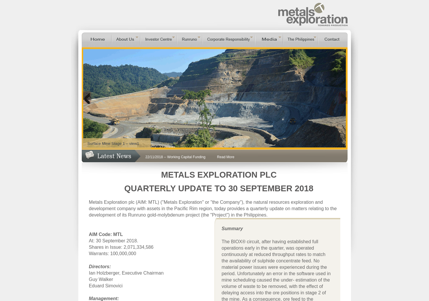 Metals Exploration Home Page