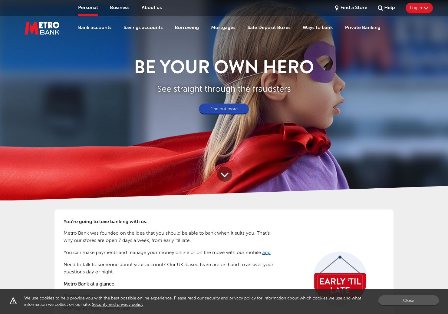Metro Bank Home Page