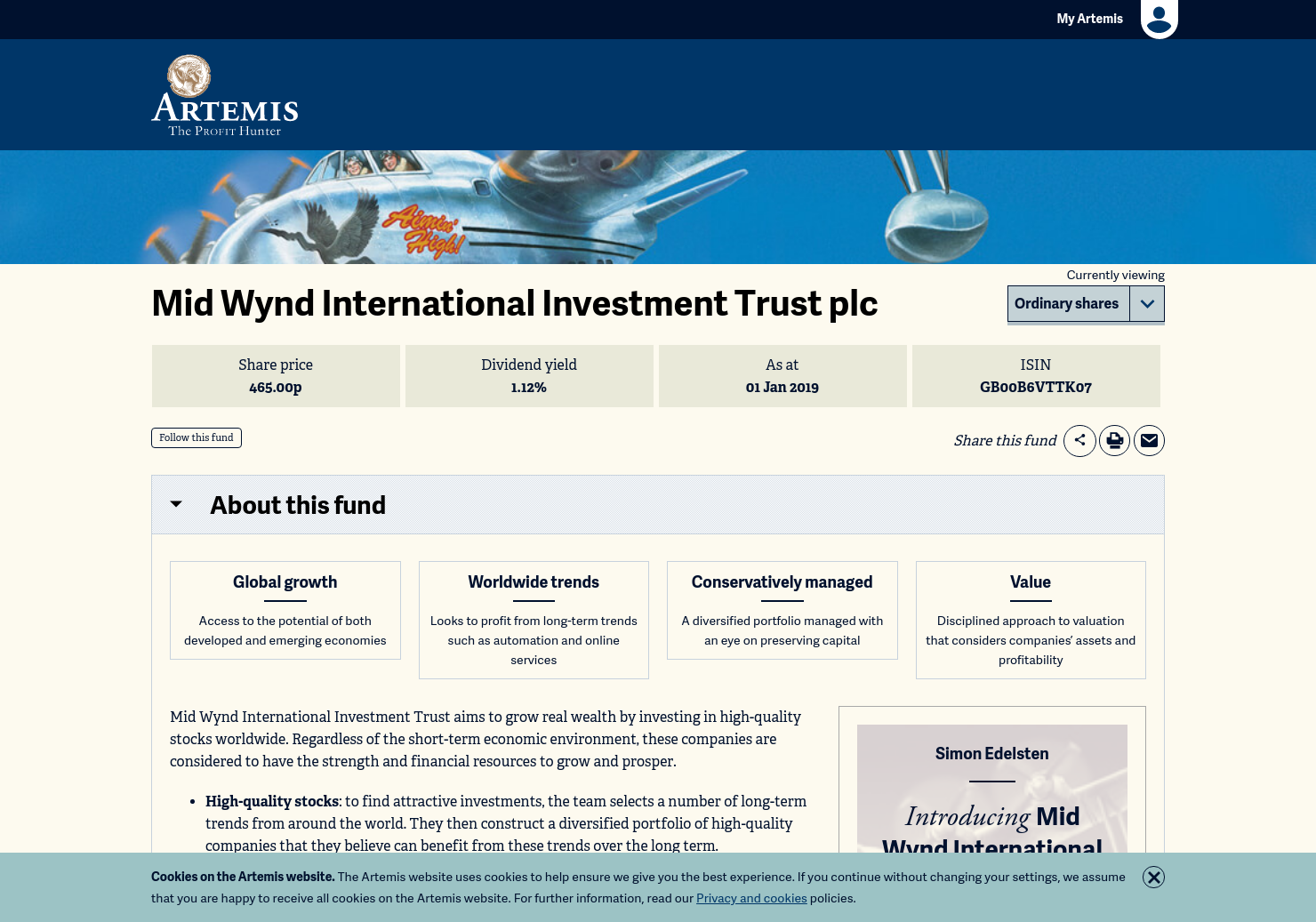 Mid Wynd International Investment Trust Home Page