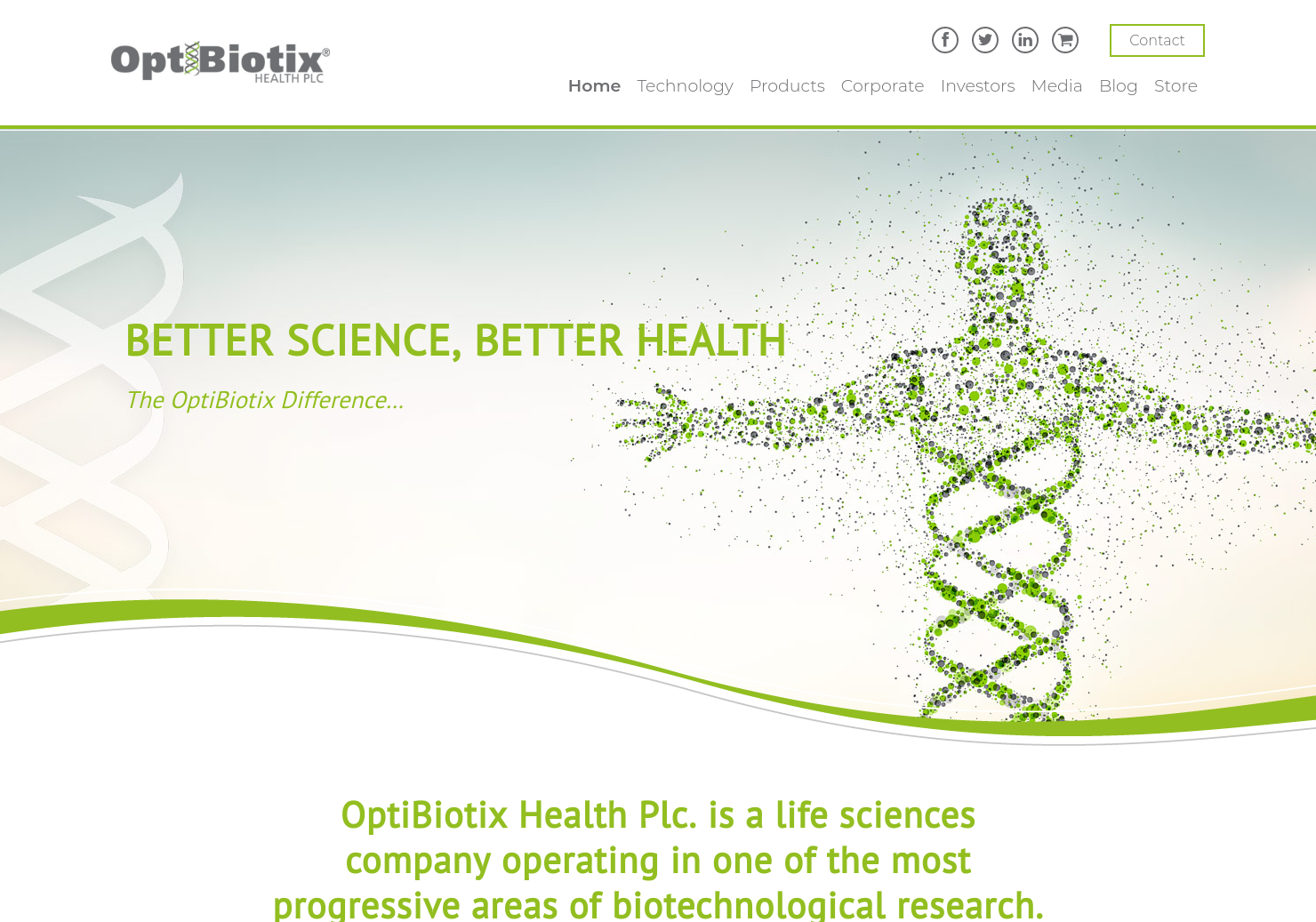 OptiBiotix Health Home Page