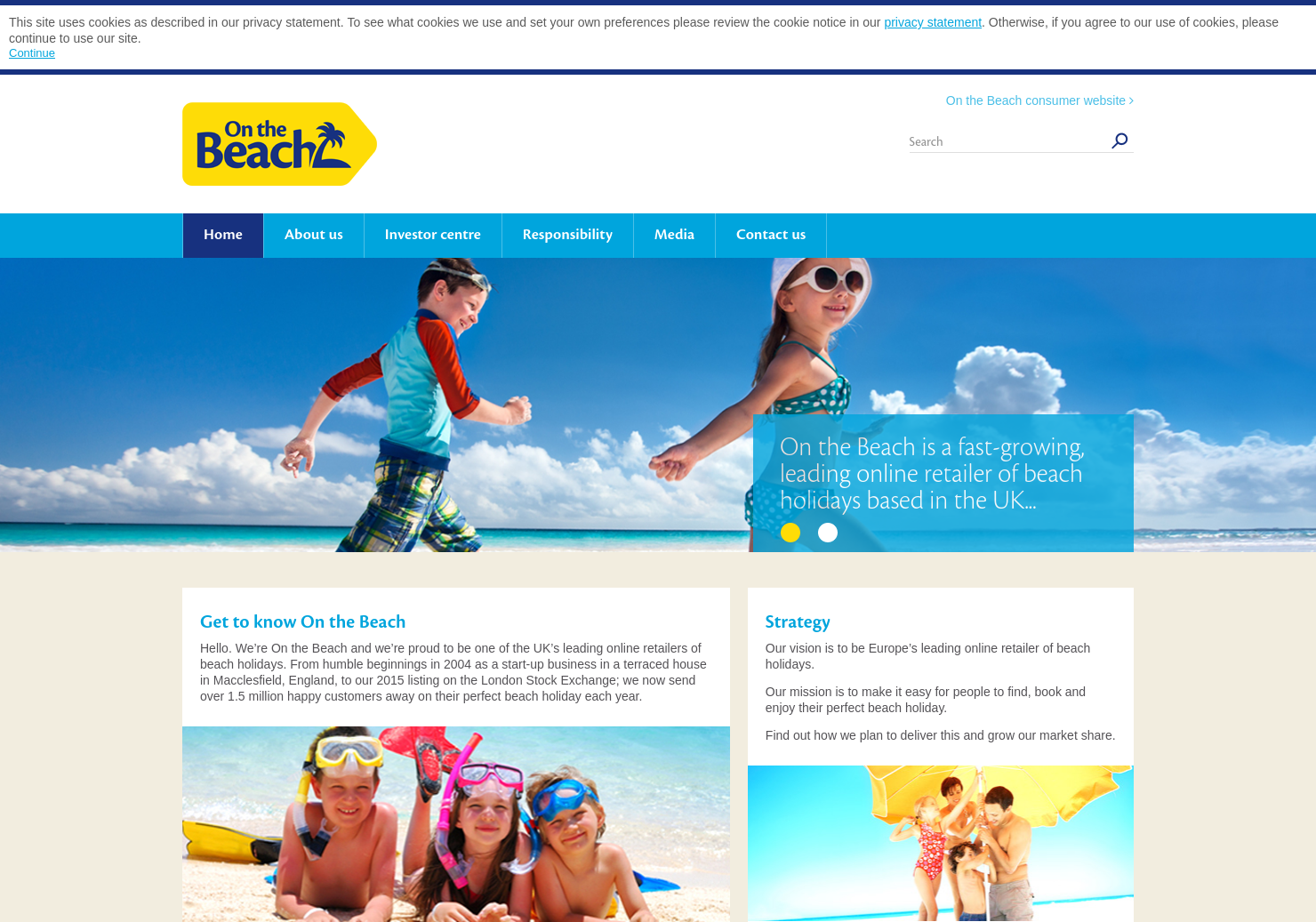 On The Beach Home Page