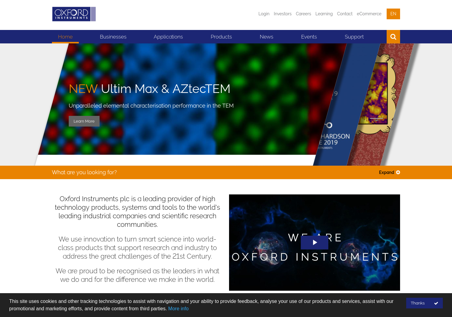 Oxford Instruments Home Page