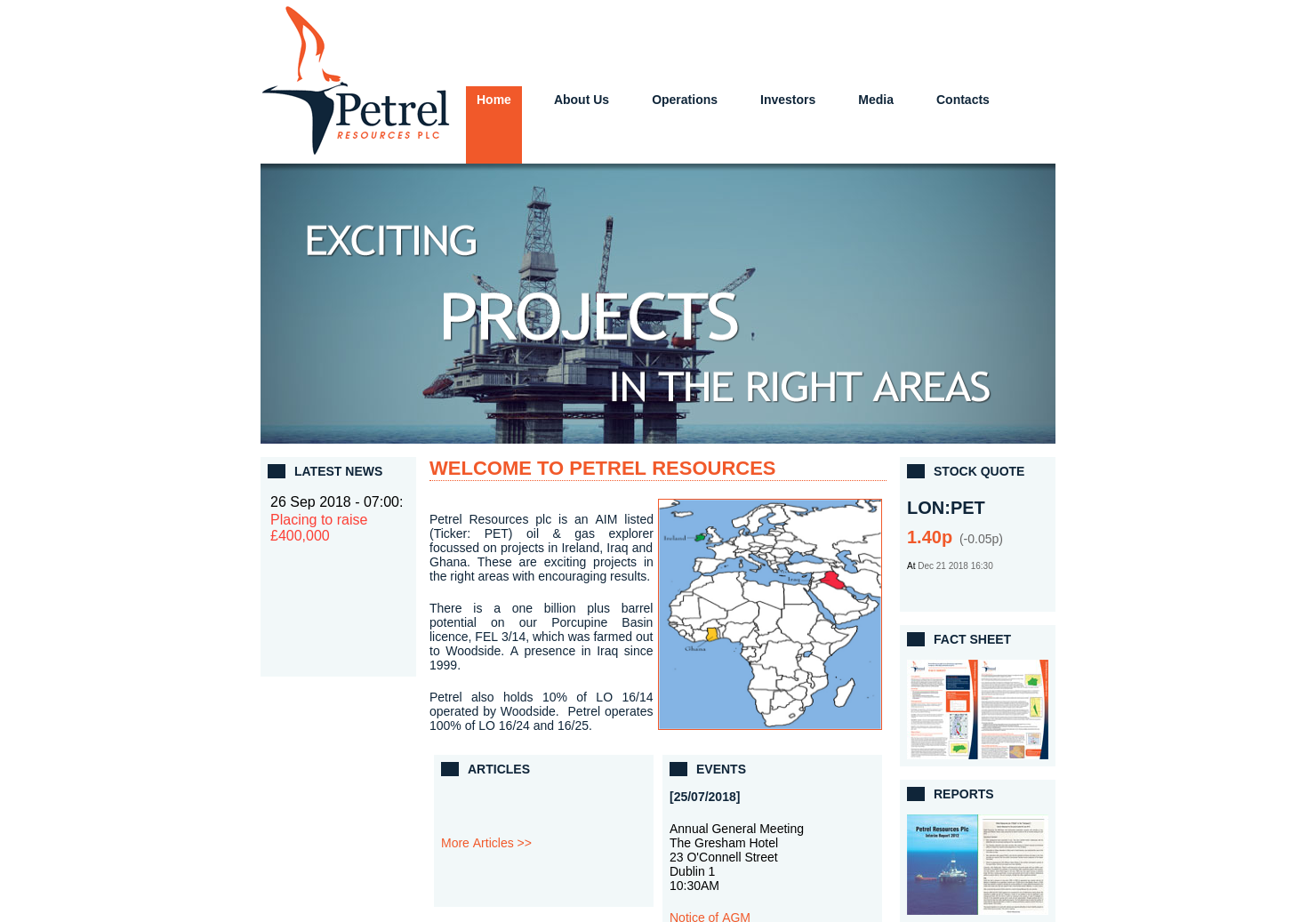 Petrel Resources Home Page