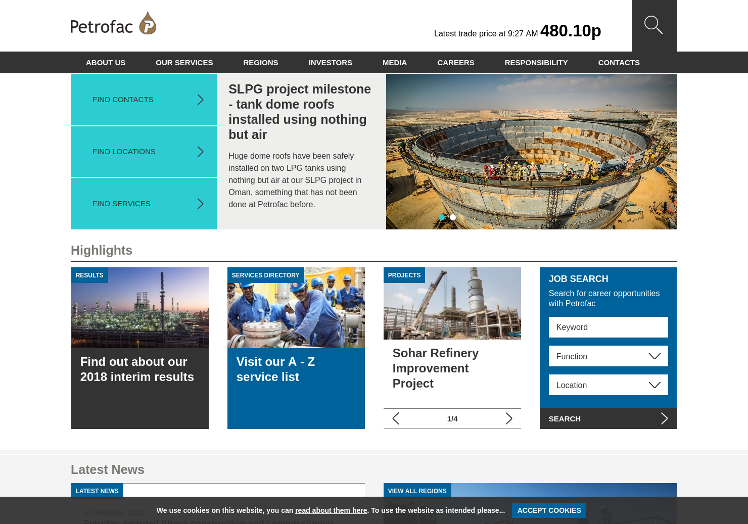 Petrofac Home Page