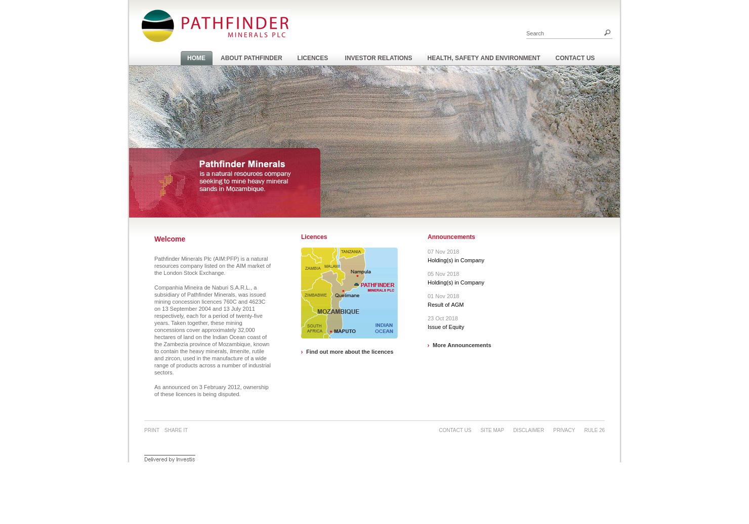Pathfinder Minerals Home Page