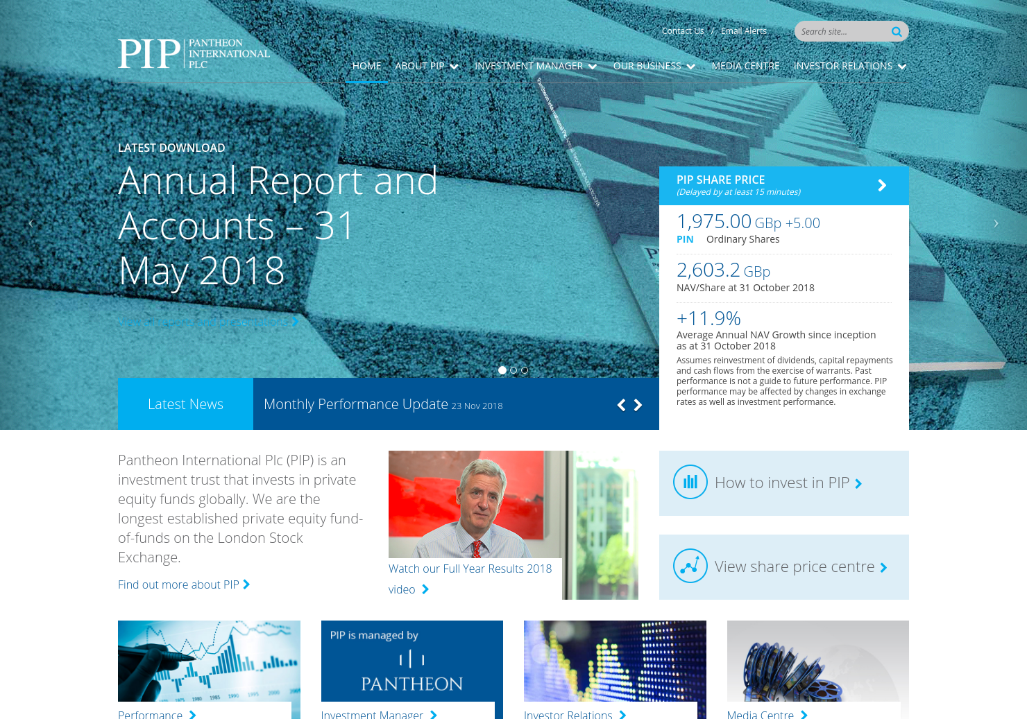 Pantheon International Home Page