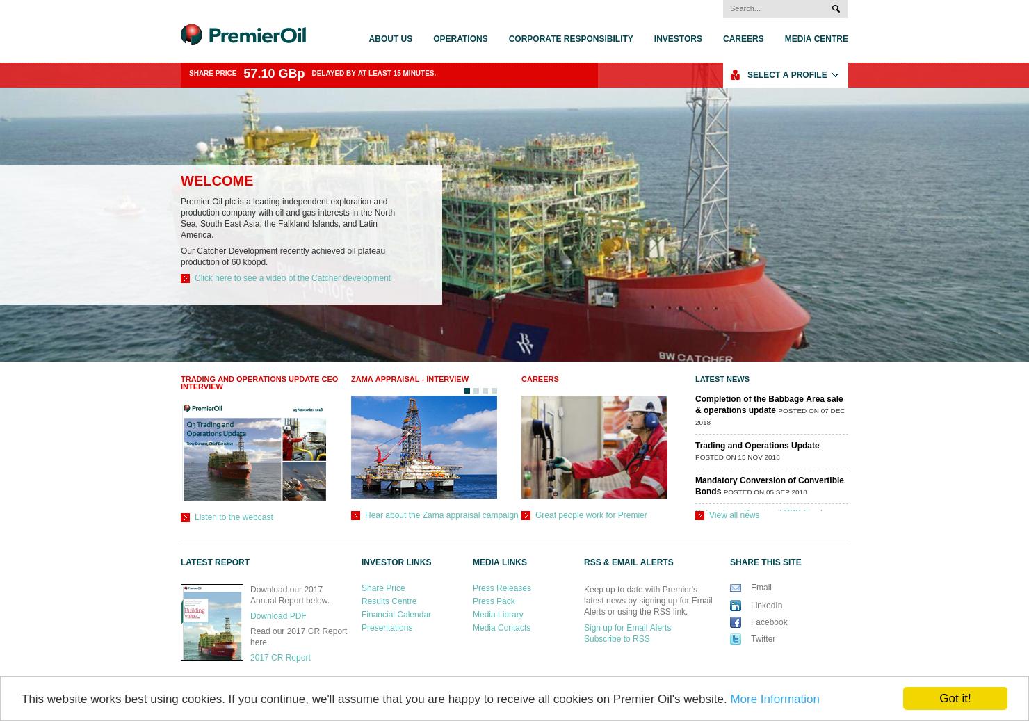 Premier Oil Home Page