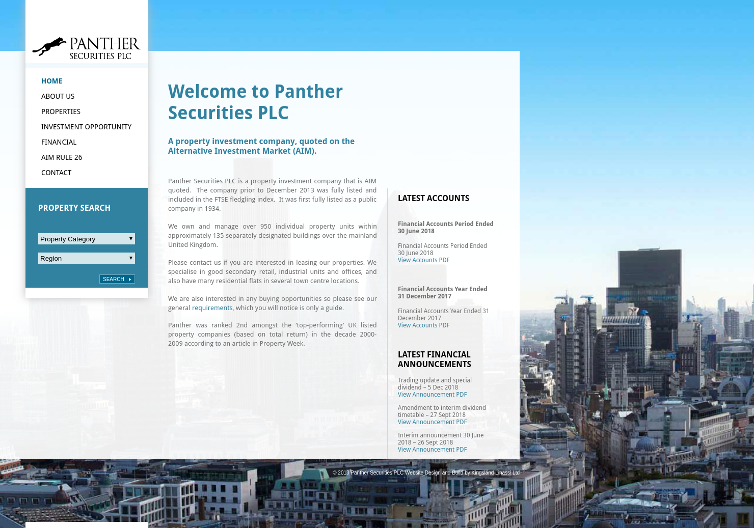 Panther Securities Home Page