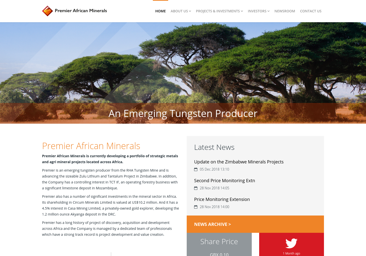 Premier African Minerals Home Page