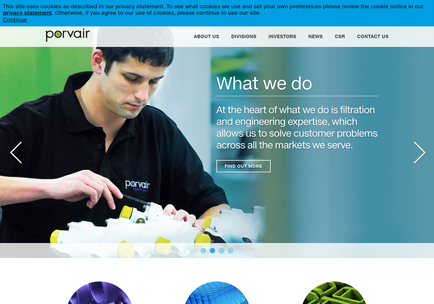 Porvair Home Page