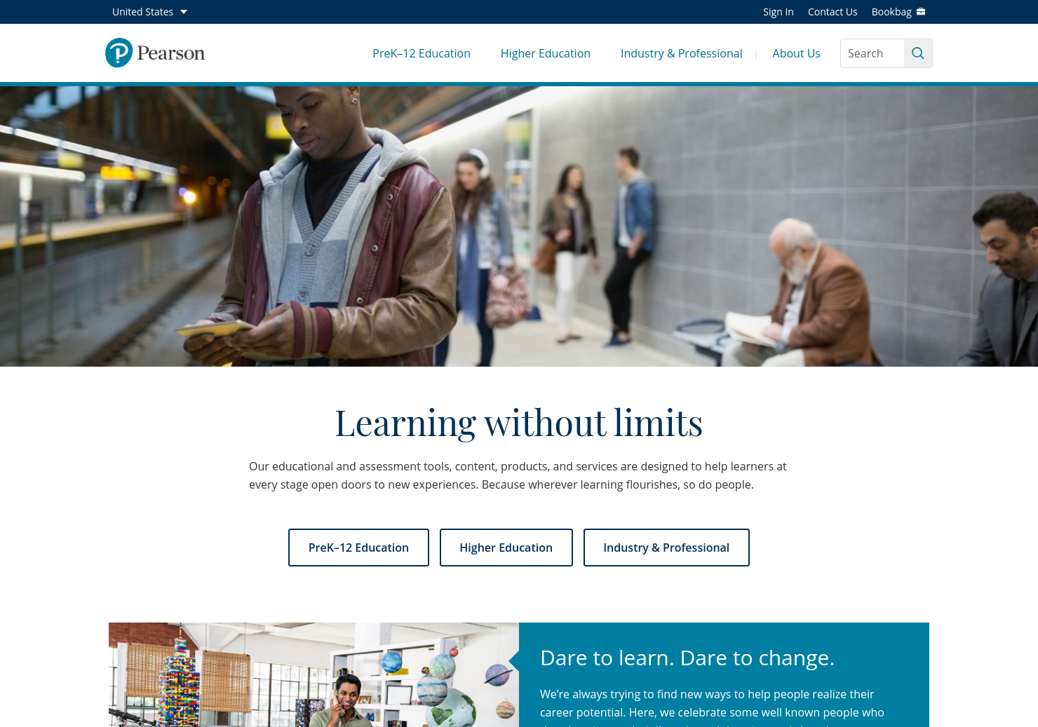 Pearson Home Page