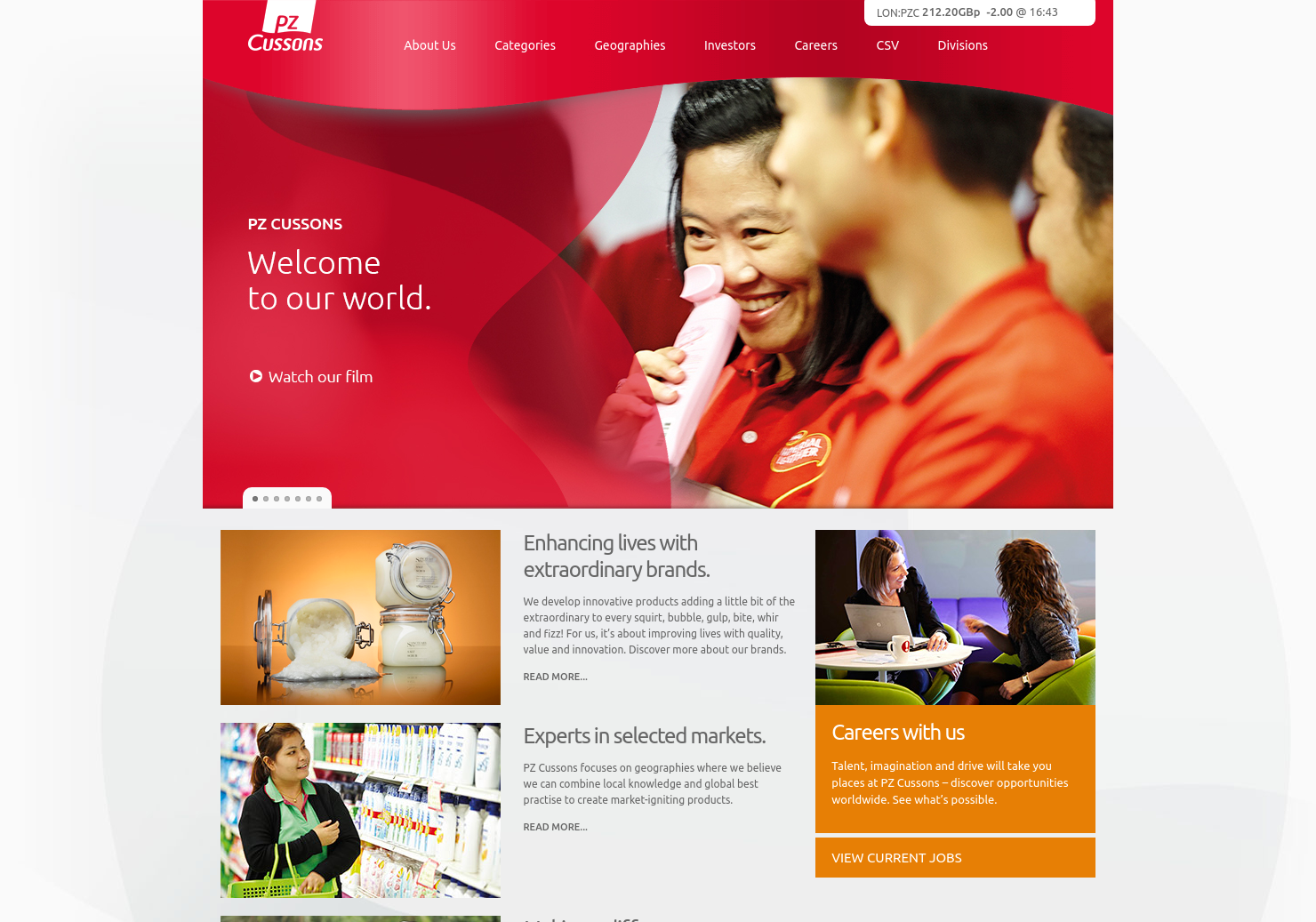 Pz Cussons Home Page