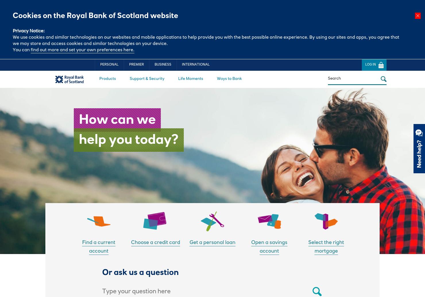 Royal Bank of Scotland Home Page