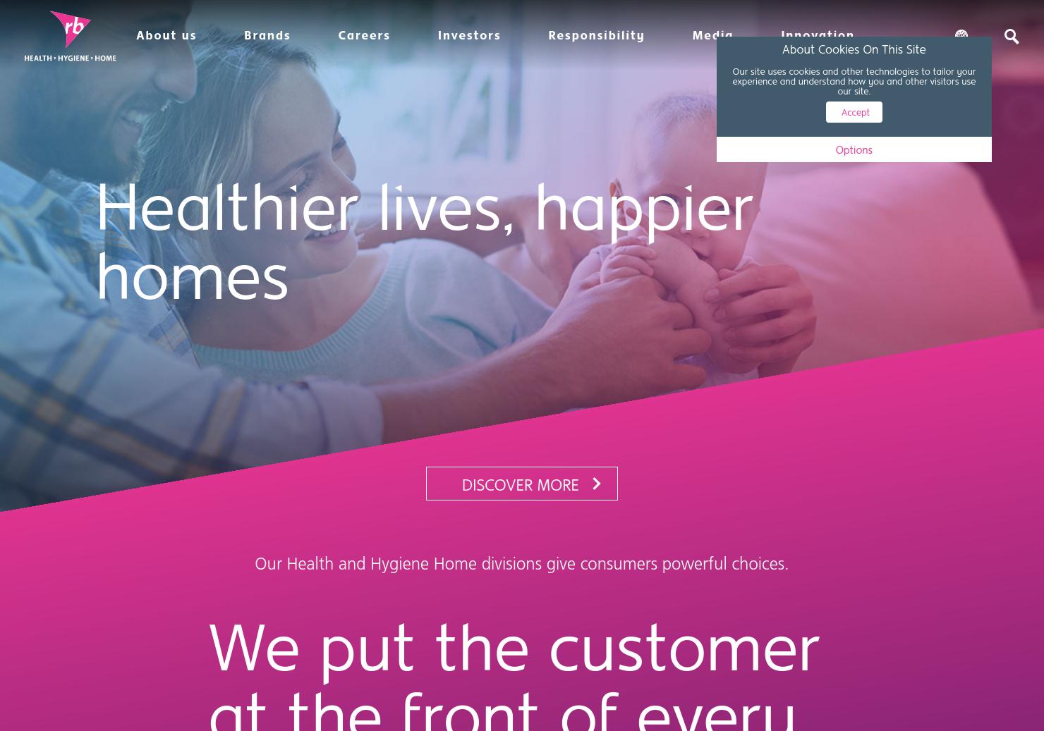 Reckitt Benckiser Home Page