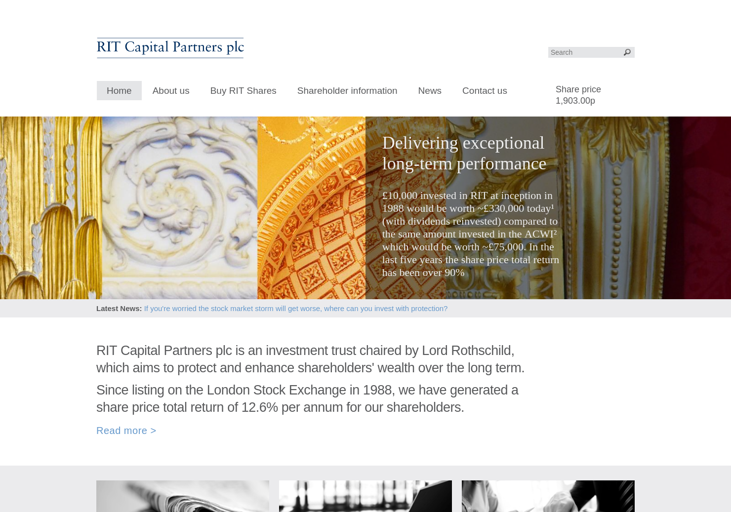 RIT Capital Partners Home Page