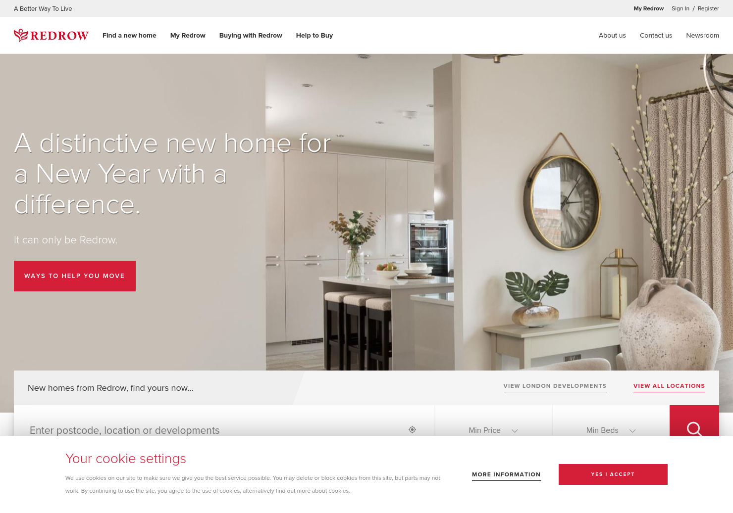 Redrow Home Page