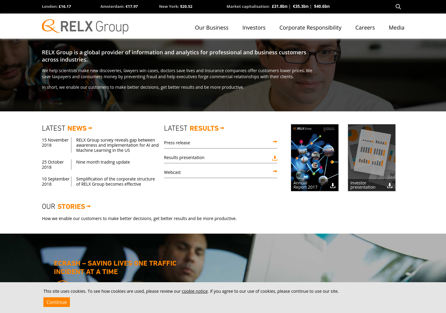 Relx Home Page