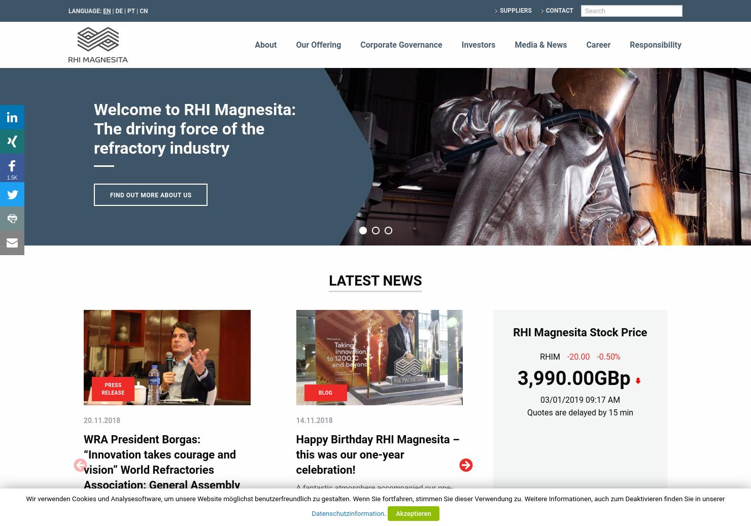 RHI Magnesita Home Page