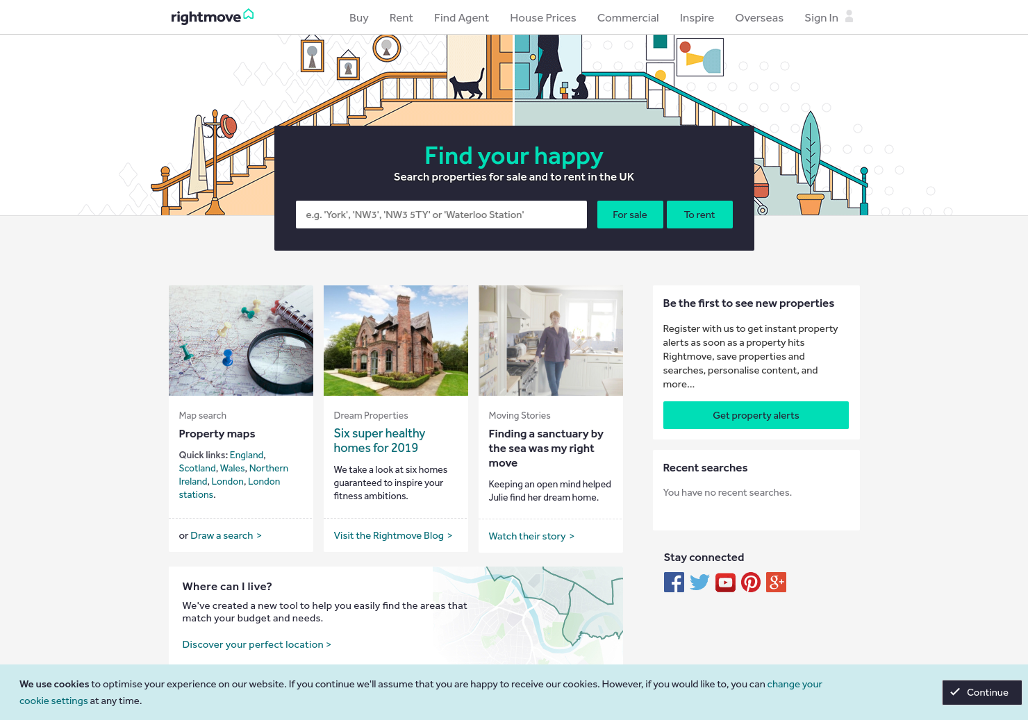 Rightmove Home Page