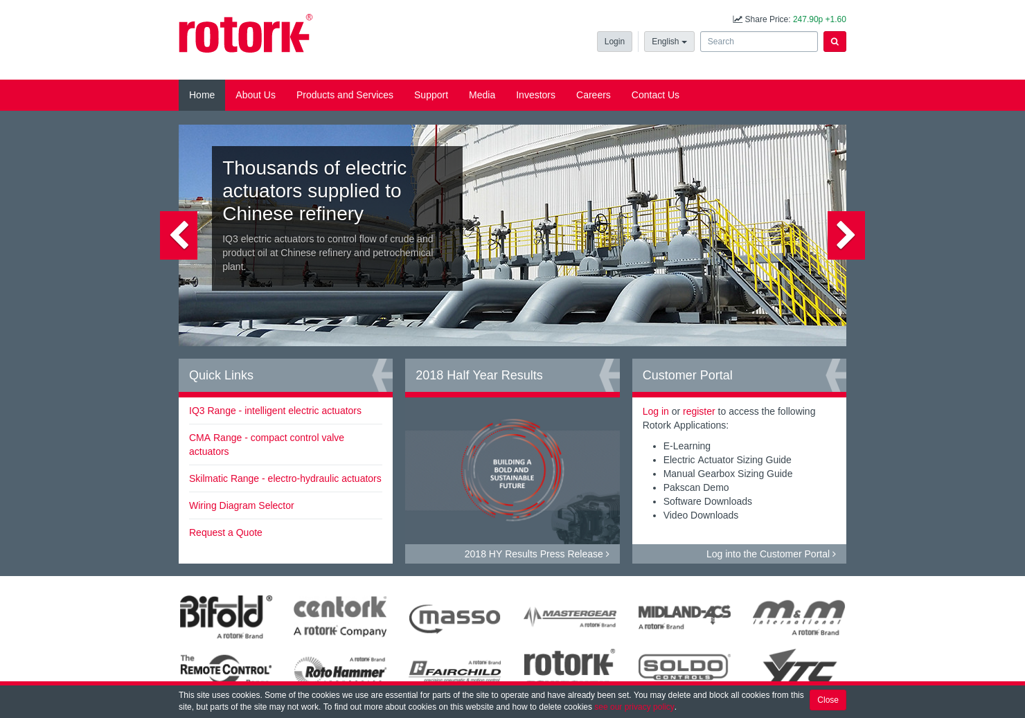 Rotork Home Page
