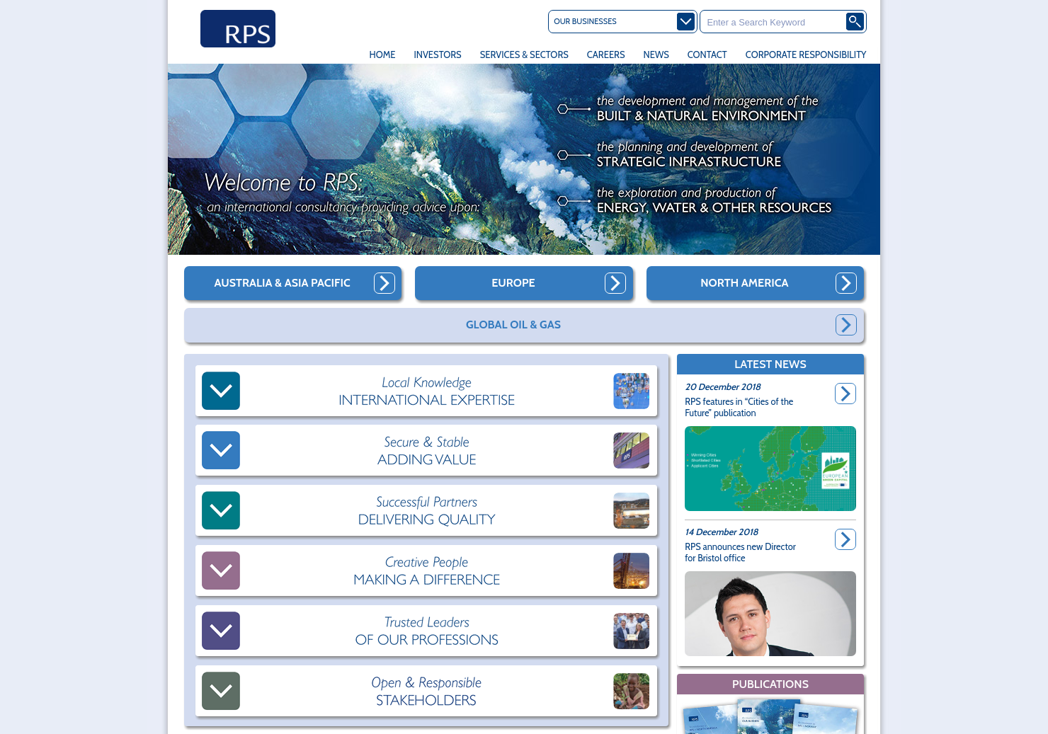 RPS Group Home Page