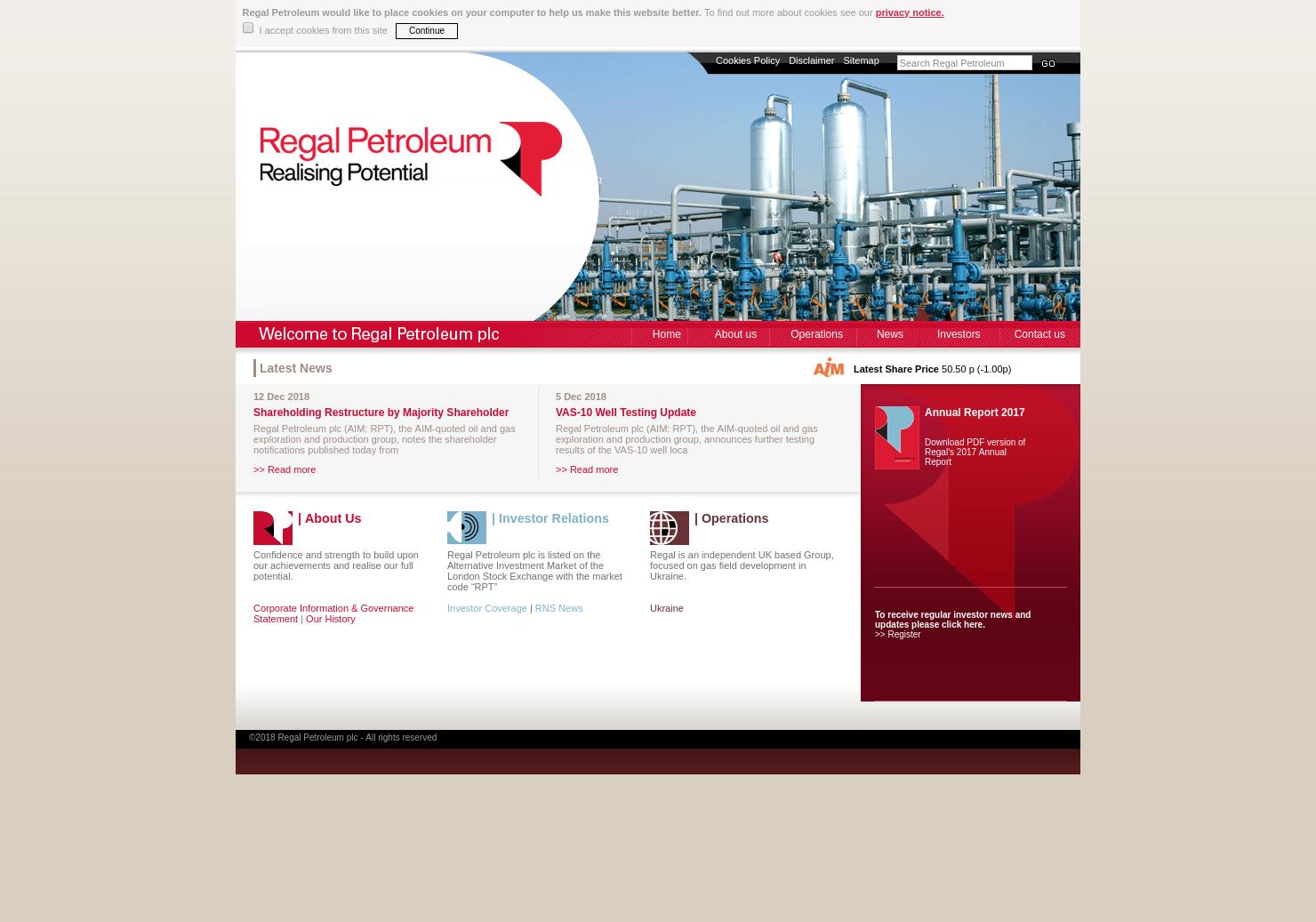 Regal Petroleum Home Page