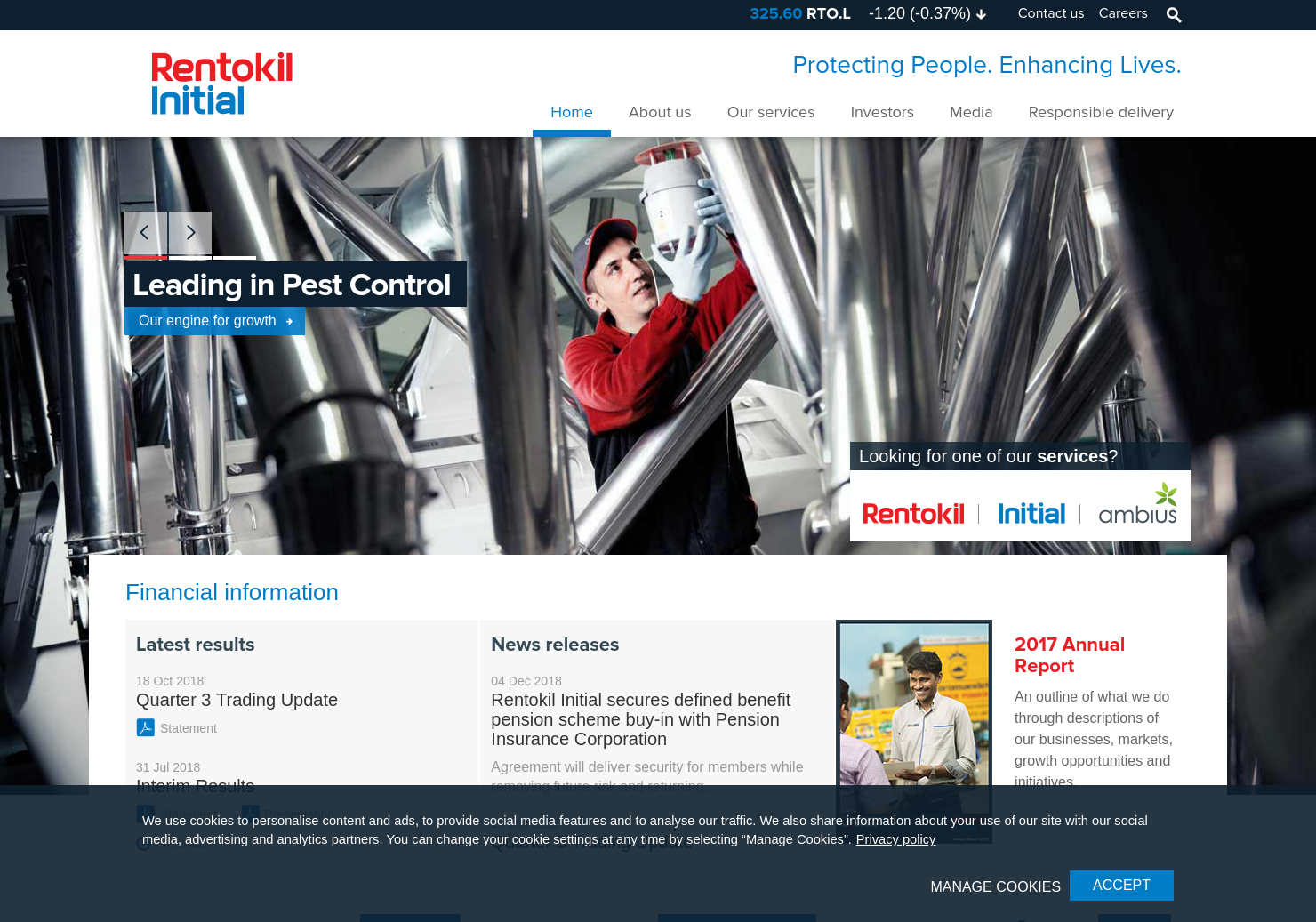 Rentokil Initial Home Page