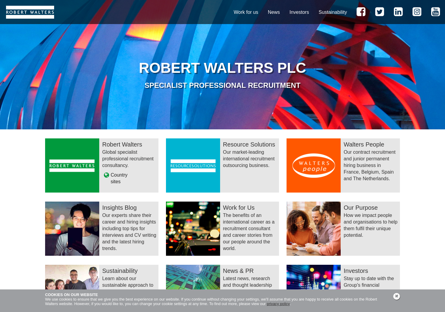 Robert Walters Home Page