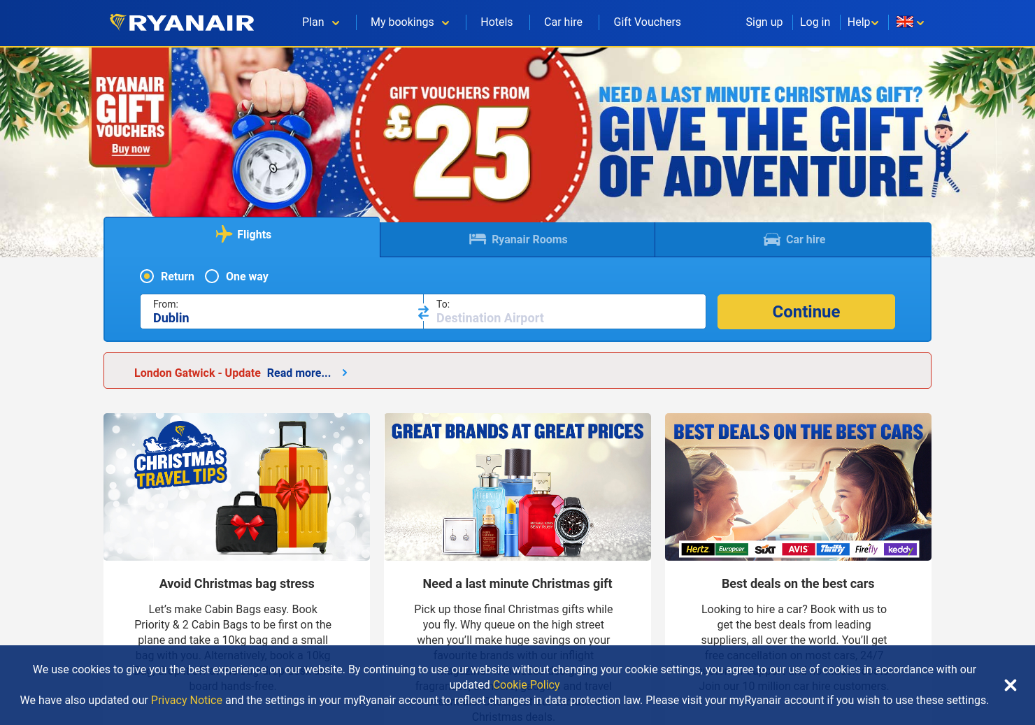 Ryanair Home Page