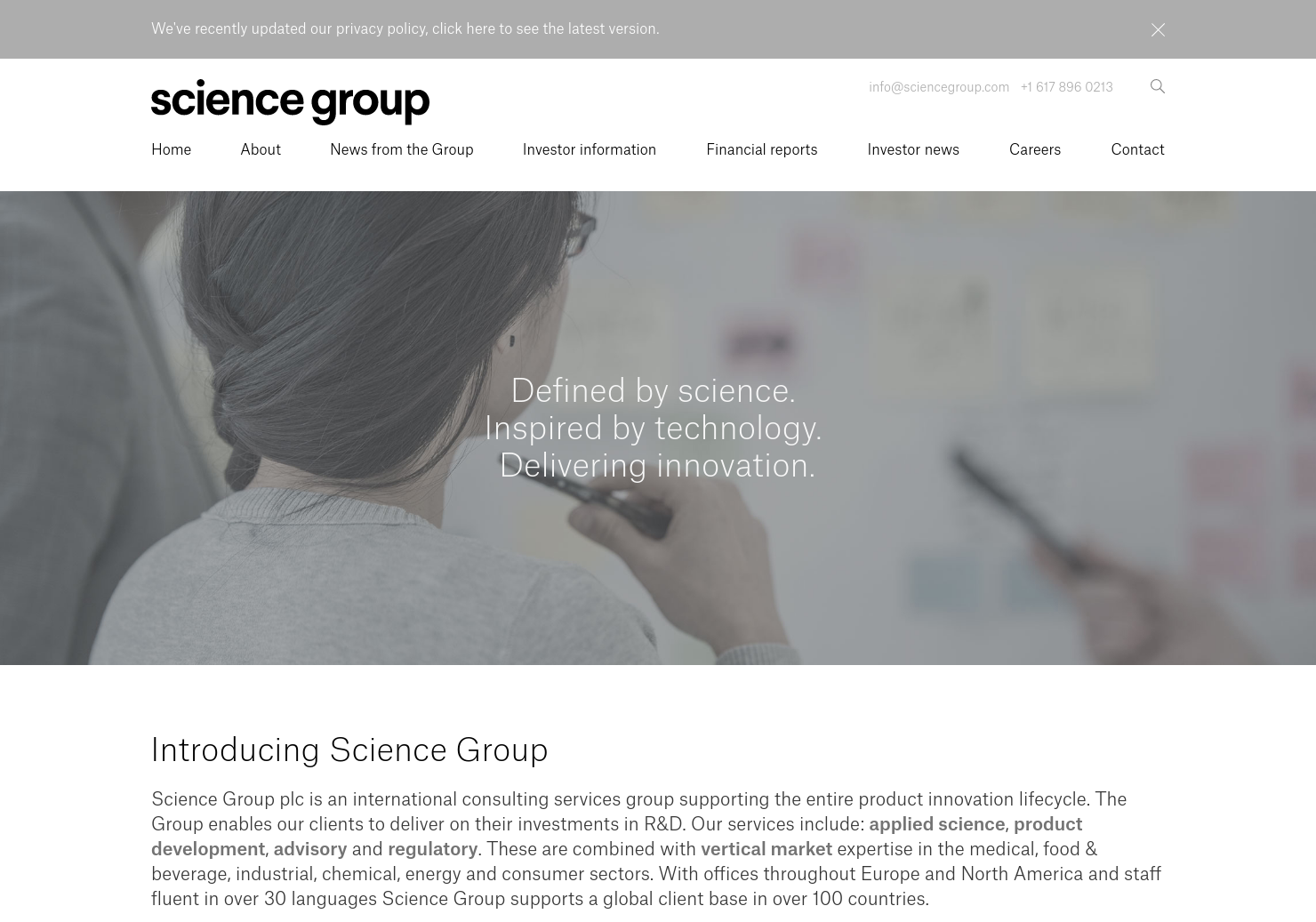 Science Group Home Page