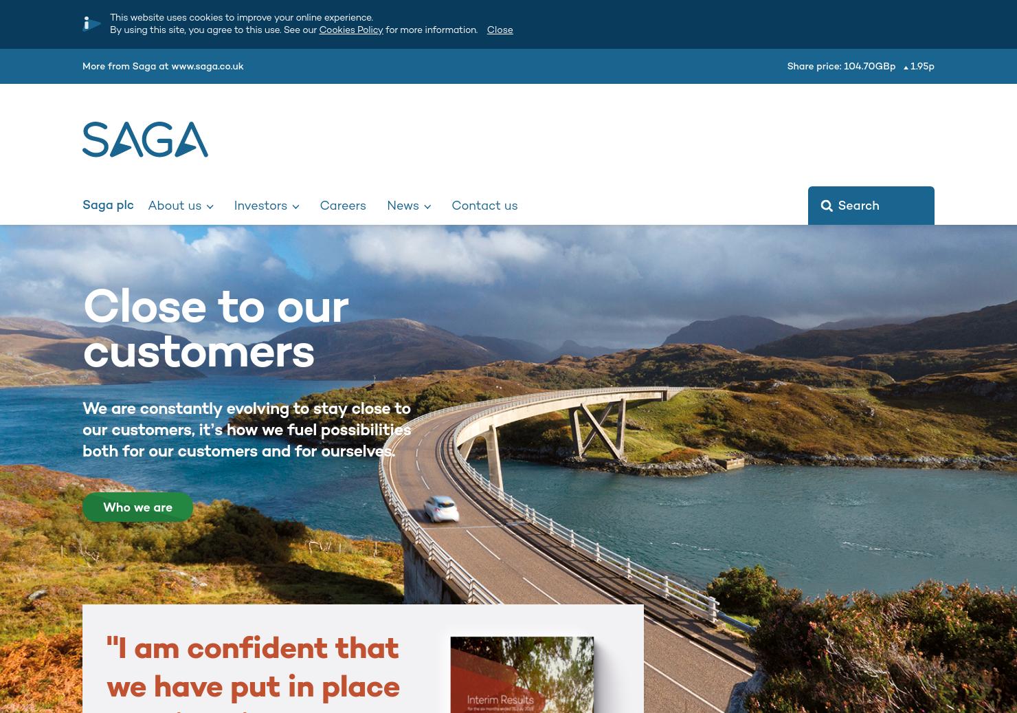 Saga Home Page