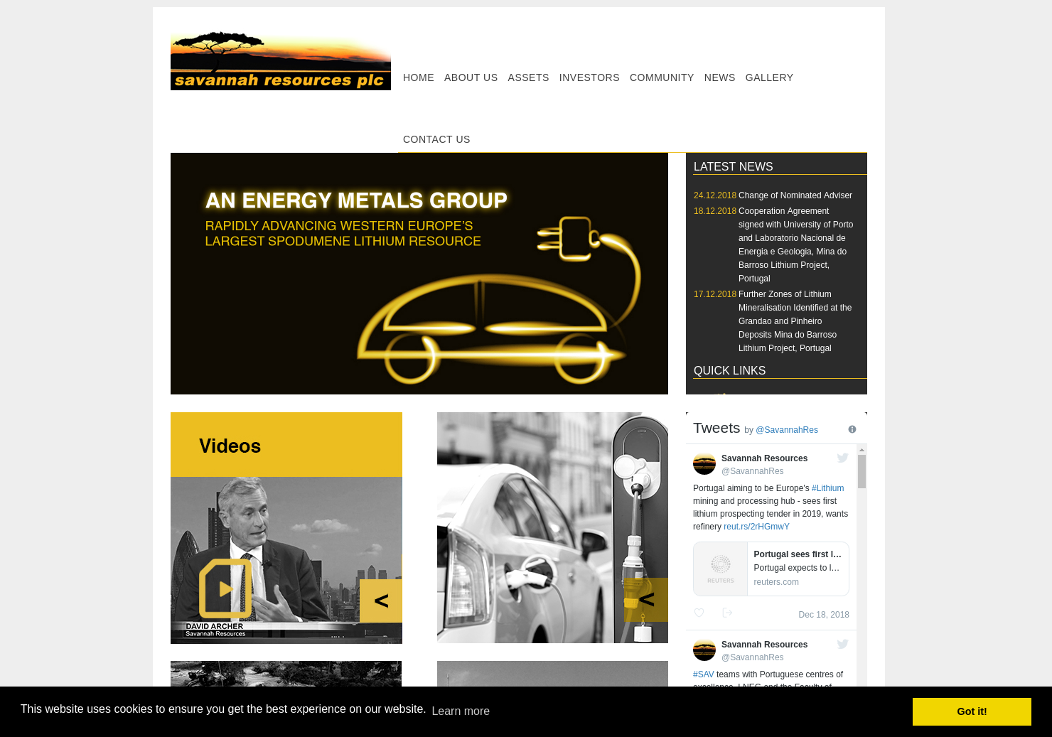 Savannah Resources Home Page