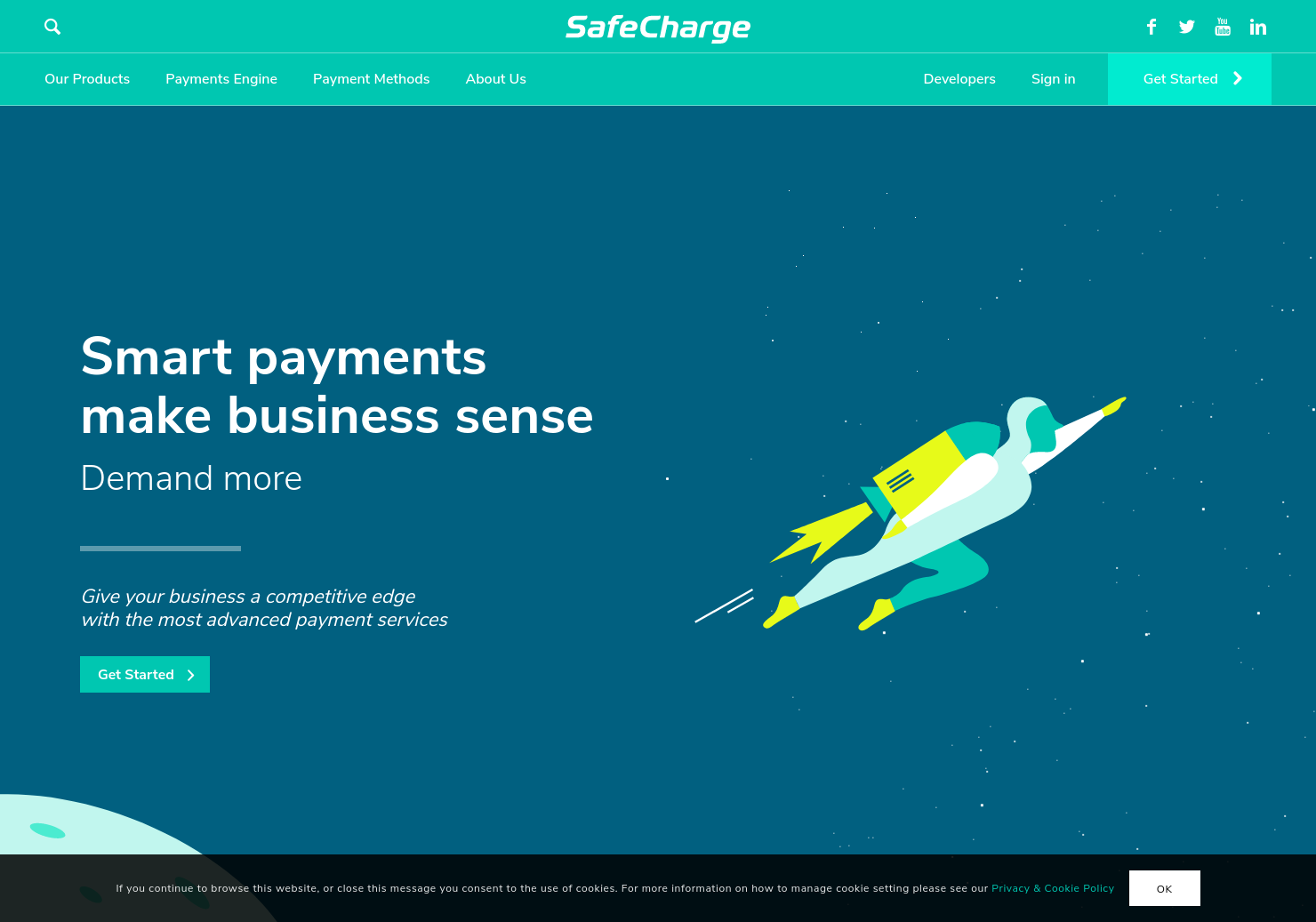 SafeCharge Home Page