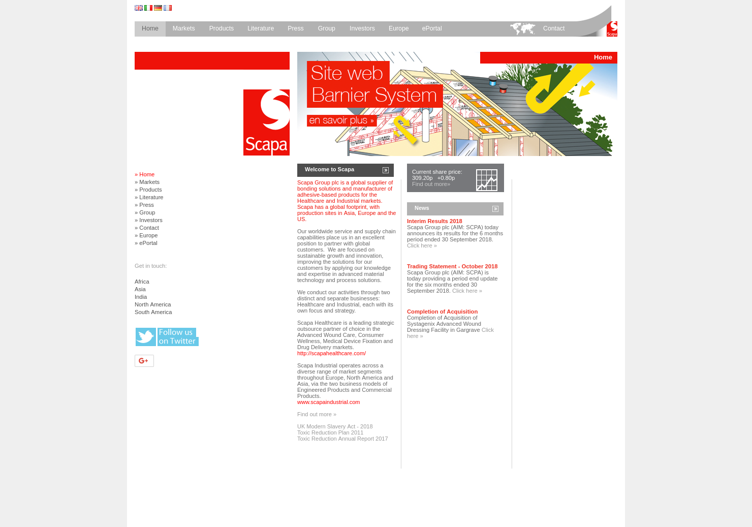 Scapa Home Page