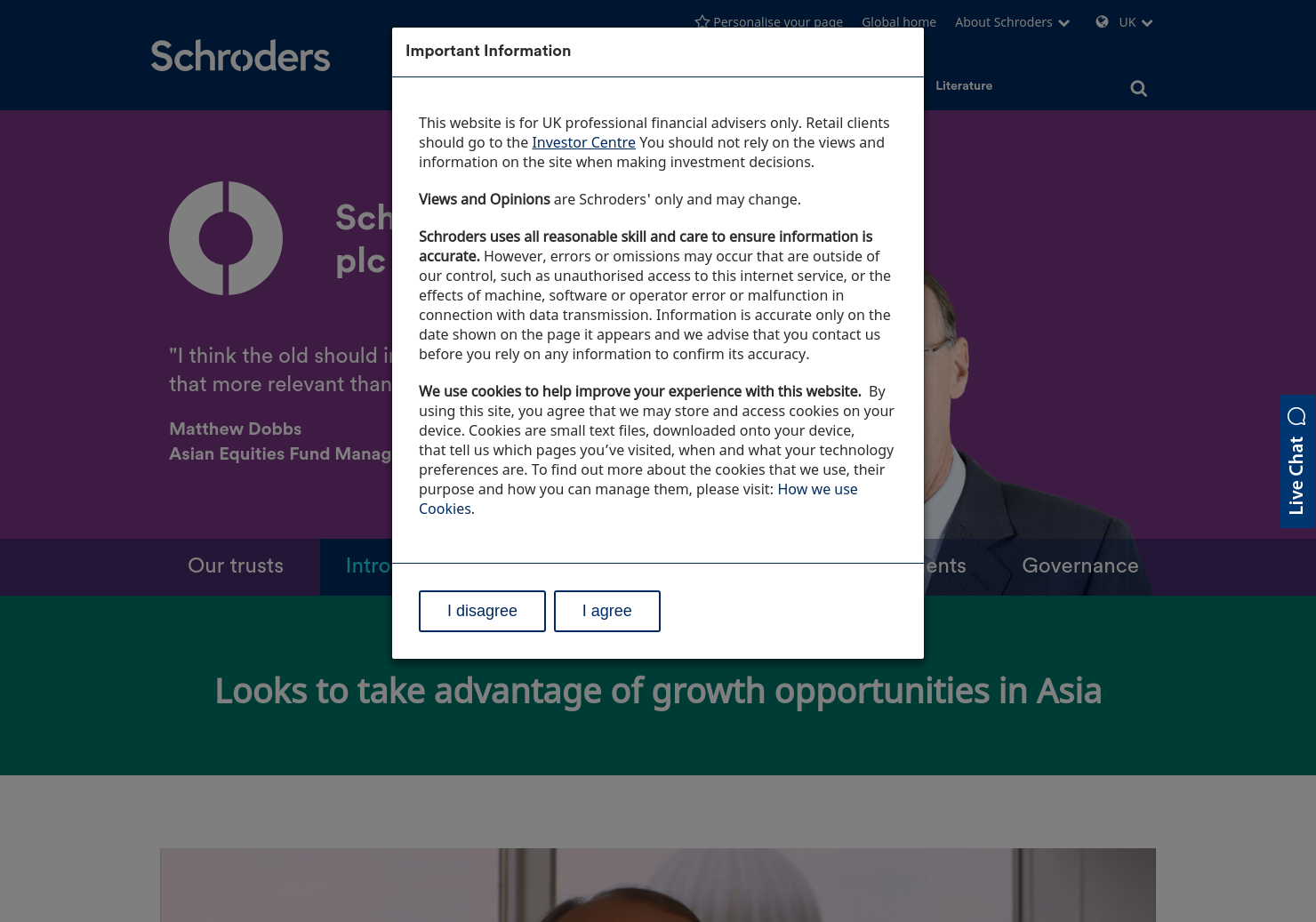 Schroder AsiaPacific Fund Home Page