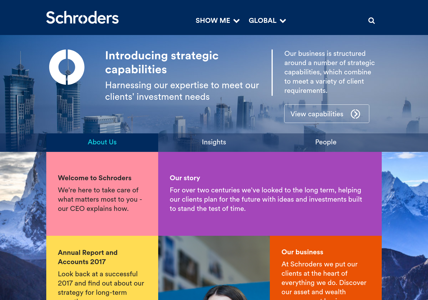 Schroders Home Page