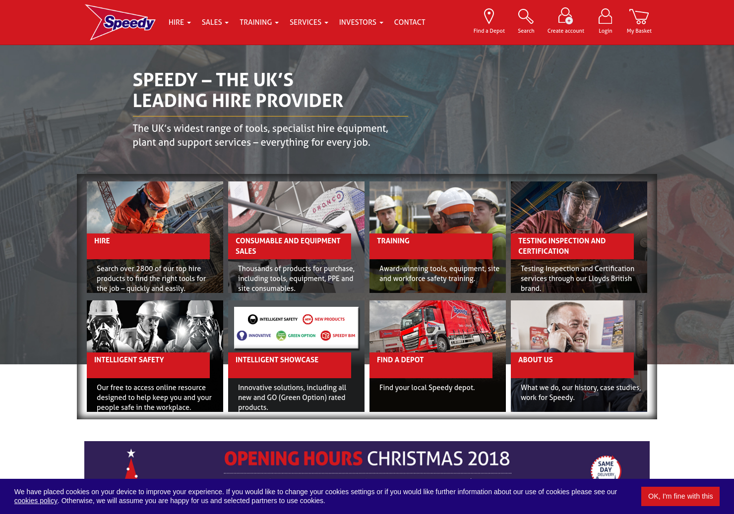 Speedy Hire Home Page