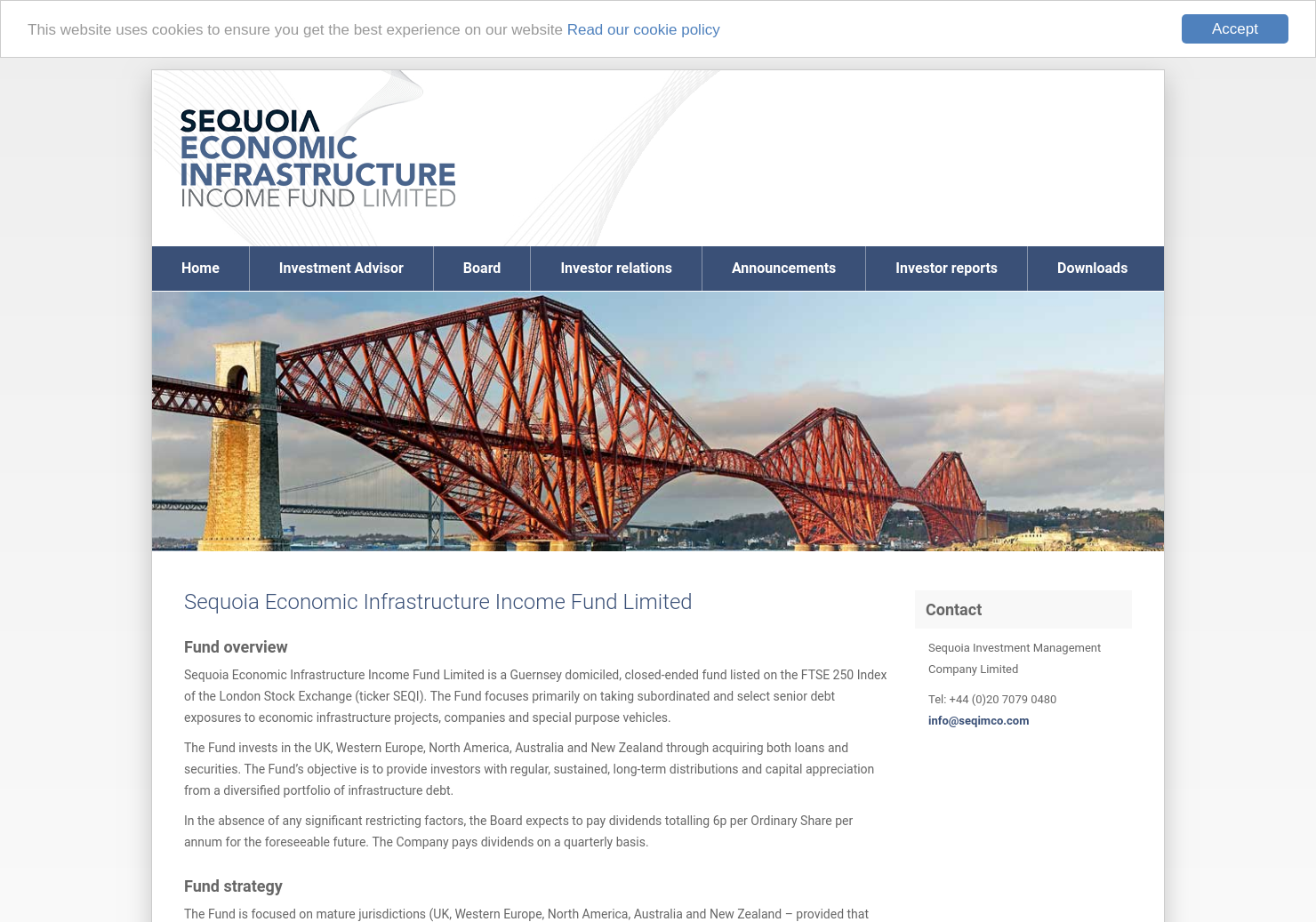Sequoia Economic Infrastructure Fund Home Page