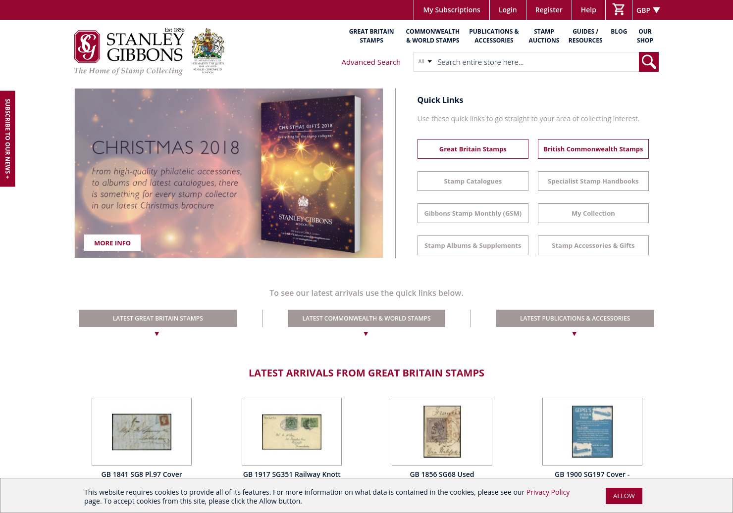 Stanley Gibbons Home Page