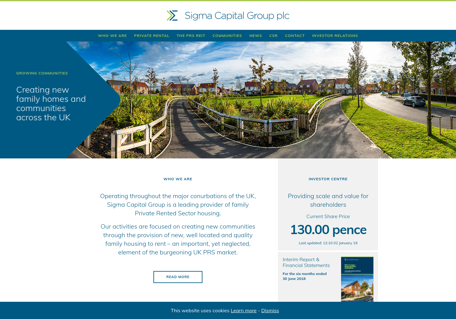 Sigma Capital Home Page