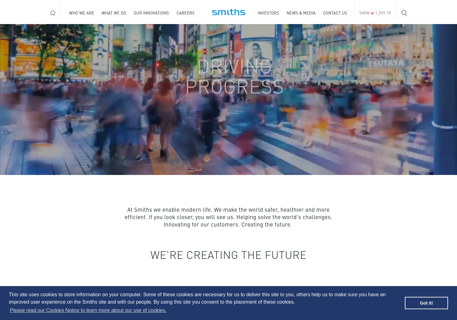 Smiths Group Home Page