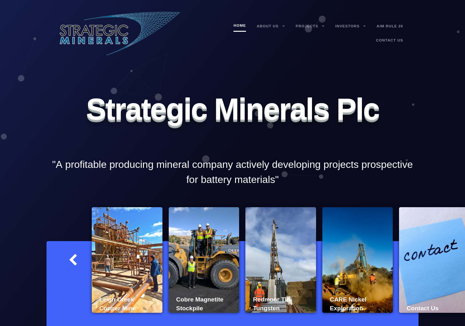 Strategic Minerals Home Page