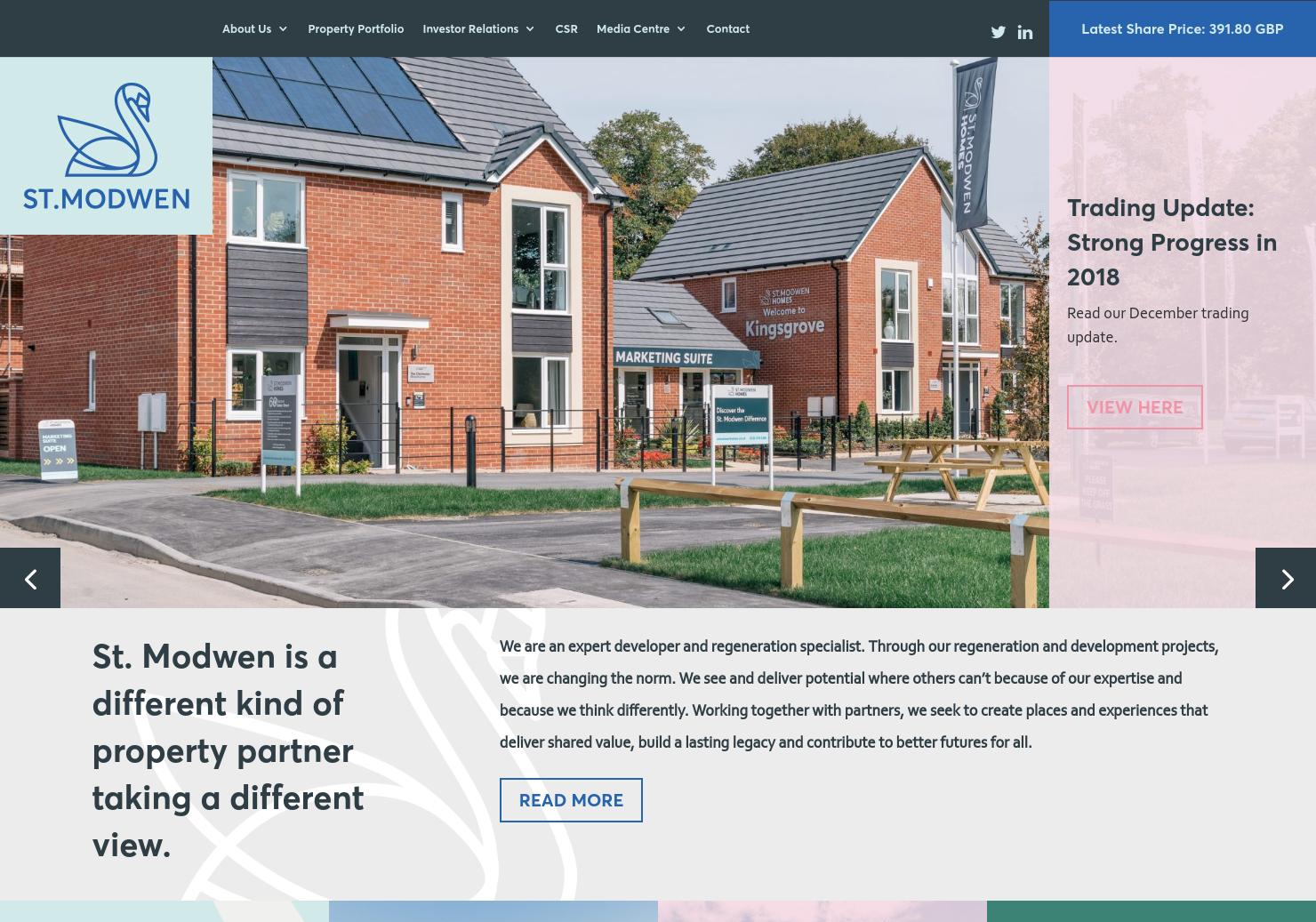 St.Modwen Properties Home Page