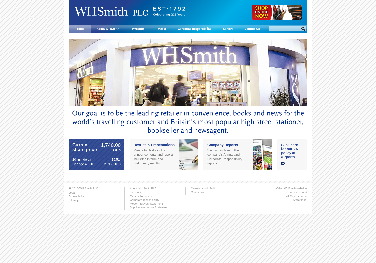 Wh Smith Home Page