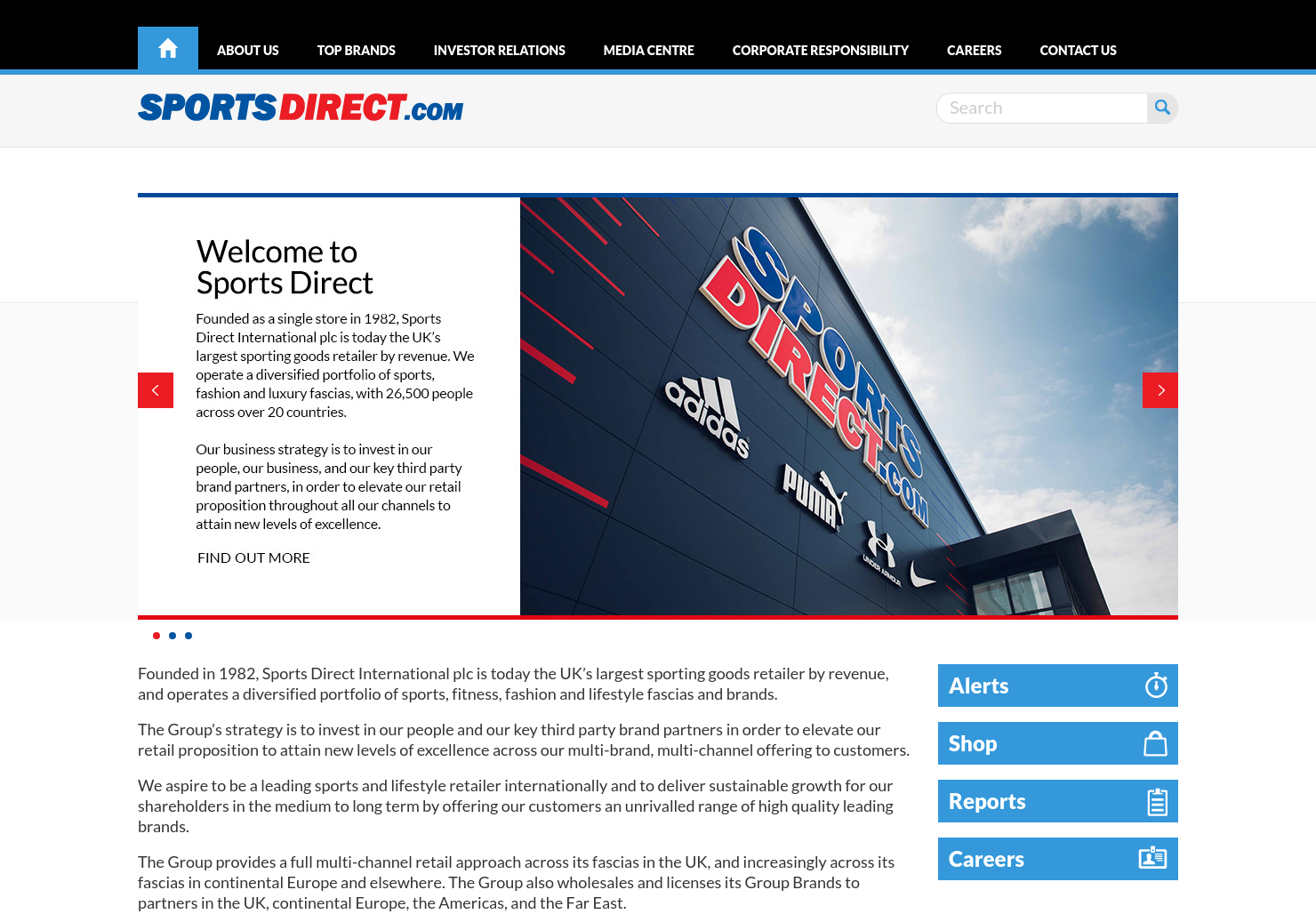 Sports Direct Home Page