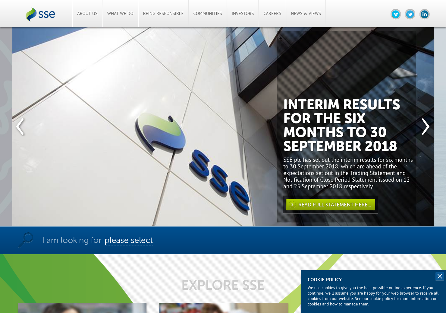 SSE Home Page